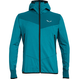 Salewa Agner Hybrid Polarlite/Durastretch Full Zip Hoody Men Ocean Melange